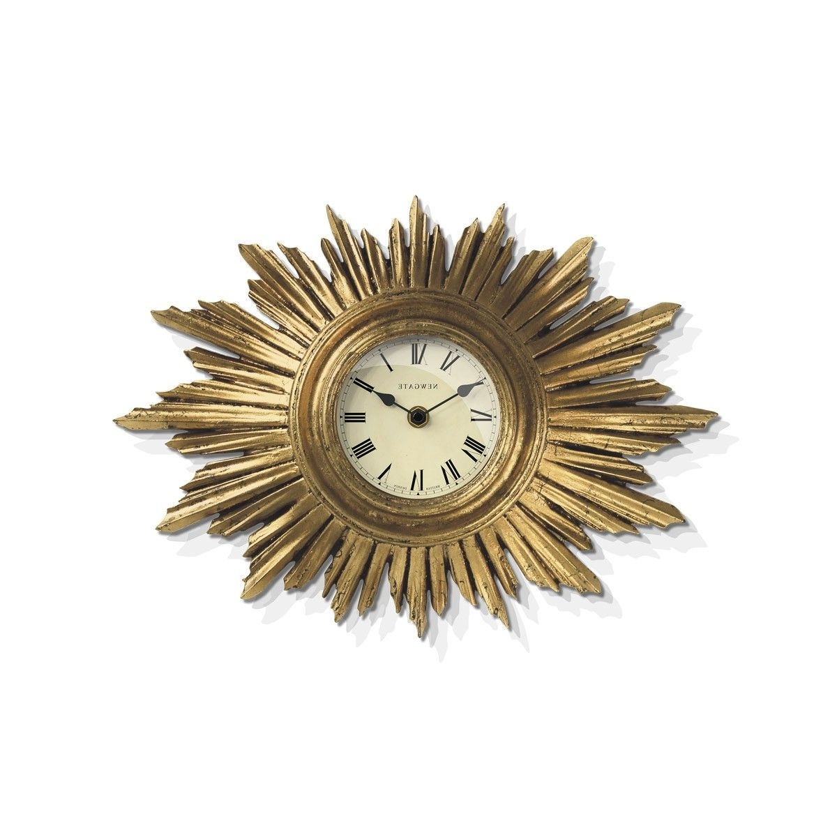 The Sunburst Wall Clock In Vintage Goldnewgate Clocks An Art Inside Best And Newest Art Deco Wall Clock (View 14 of 15)