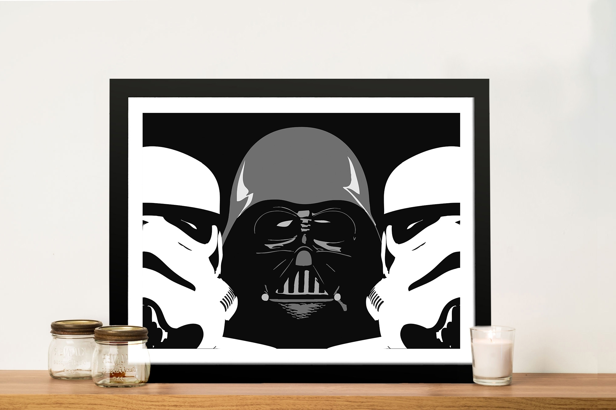 Three Amigos Darth Vader Wall Art – Canvas Prints Australia Regarding Latest Darth Vader Wall Art (View 6 of 15)