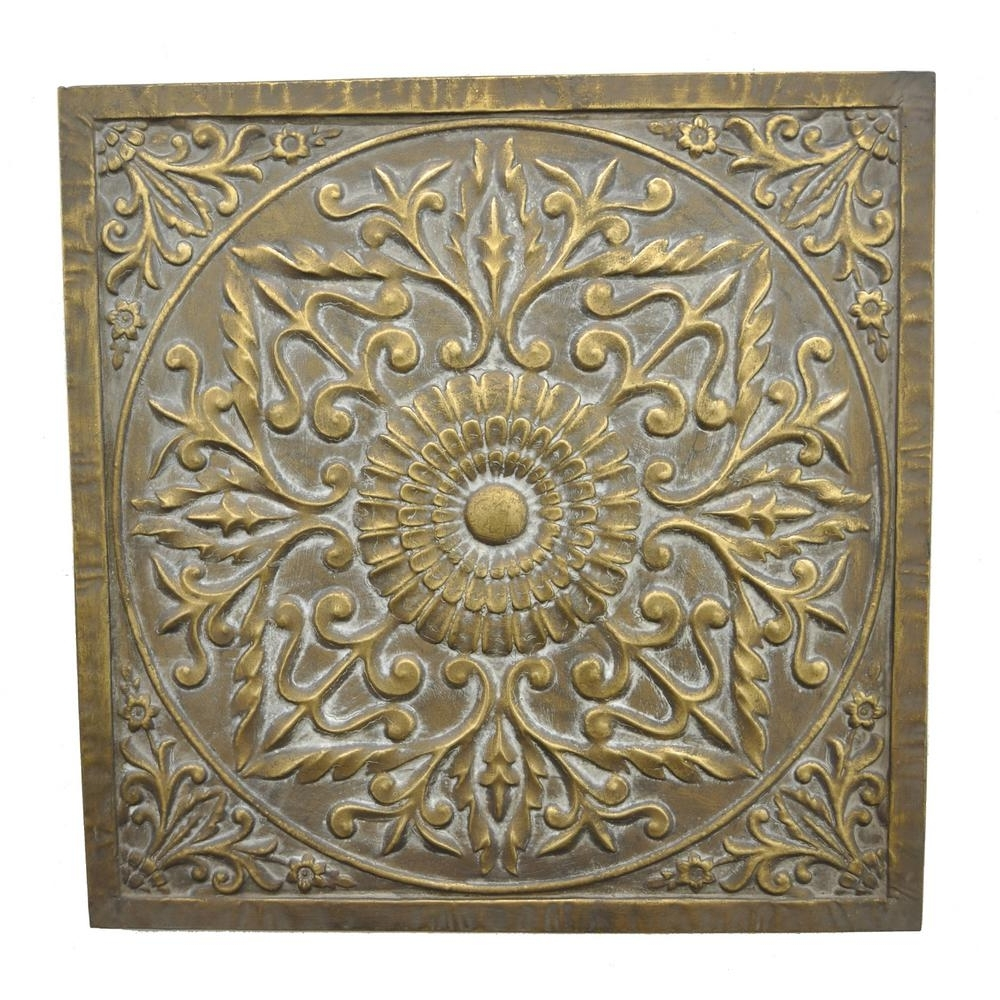 Three Hands Square Medallion Wall Art 57521 – The Home Depot For Famous Medallion Wall Art (View 12 of 15)
