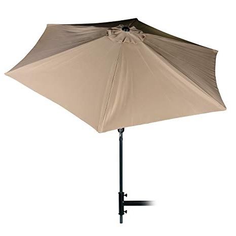 Tilting Patio Umbrellas Regarding 2017 Amazon: Camco Large Tilting Outdoor Patio Umbrella 9' Tilts In (View 9 of 15)