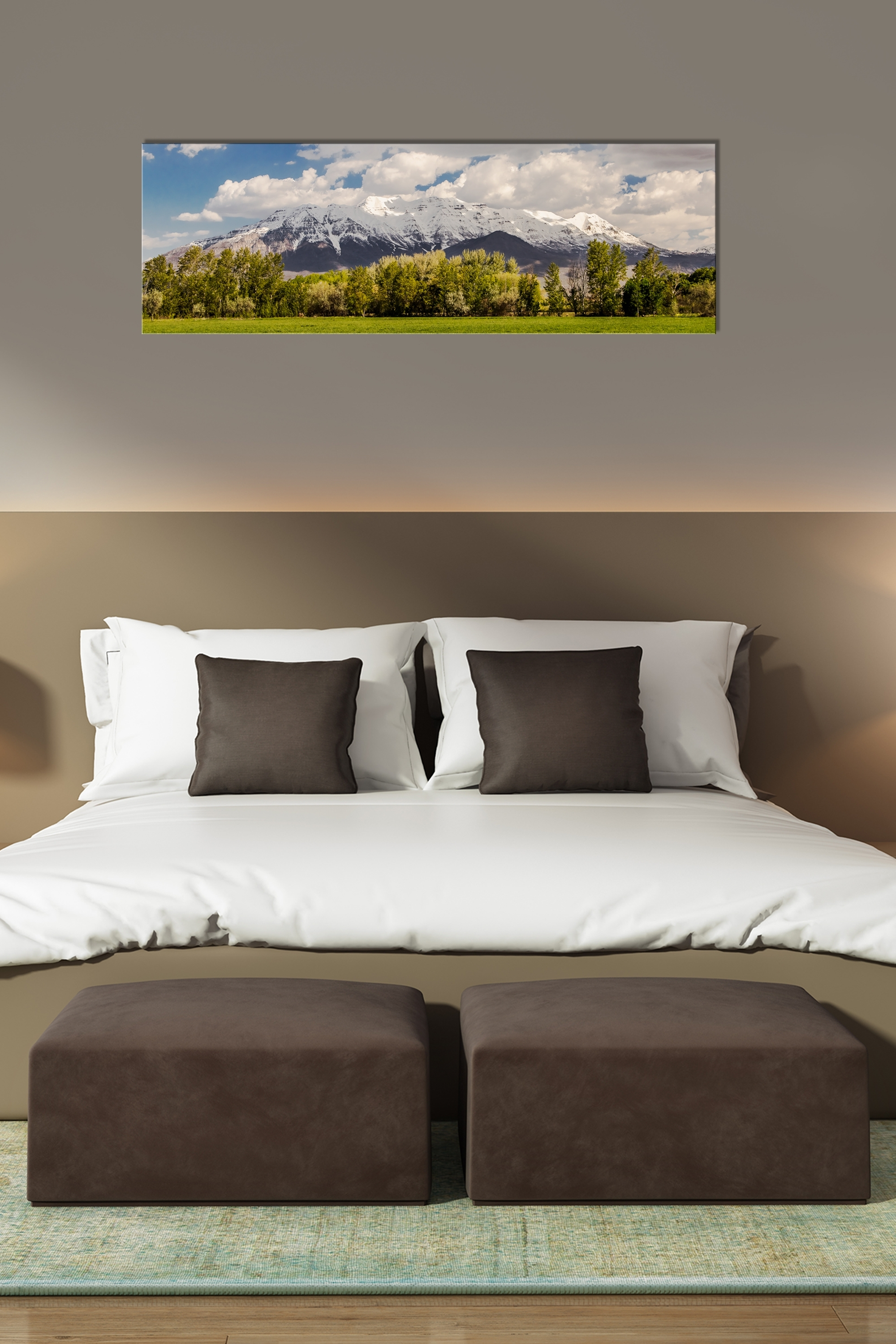 Timpanogos Spring Panorama – Rogue Aurora Photography Throughout Famous Panoramic Wall Art (View 11 of 15)