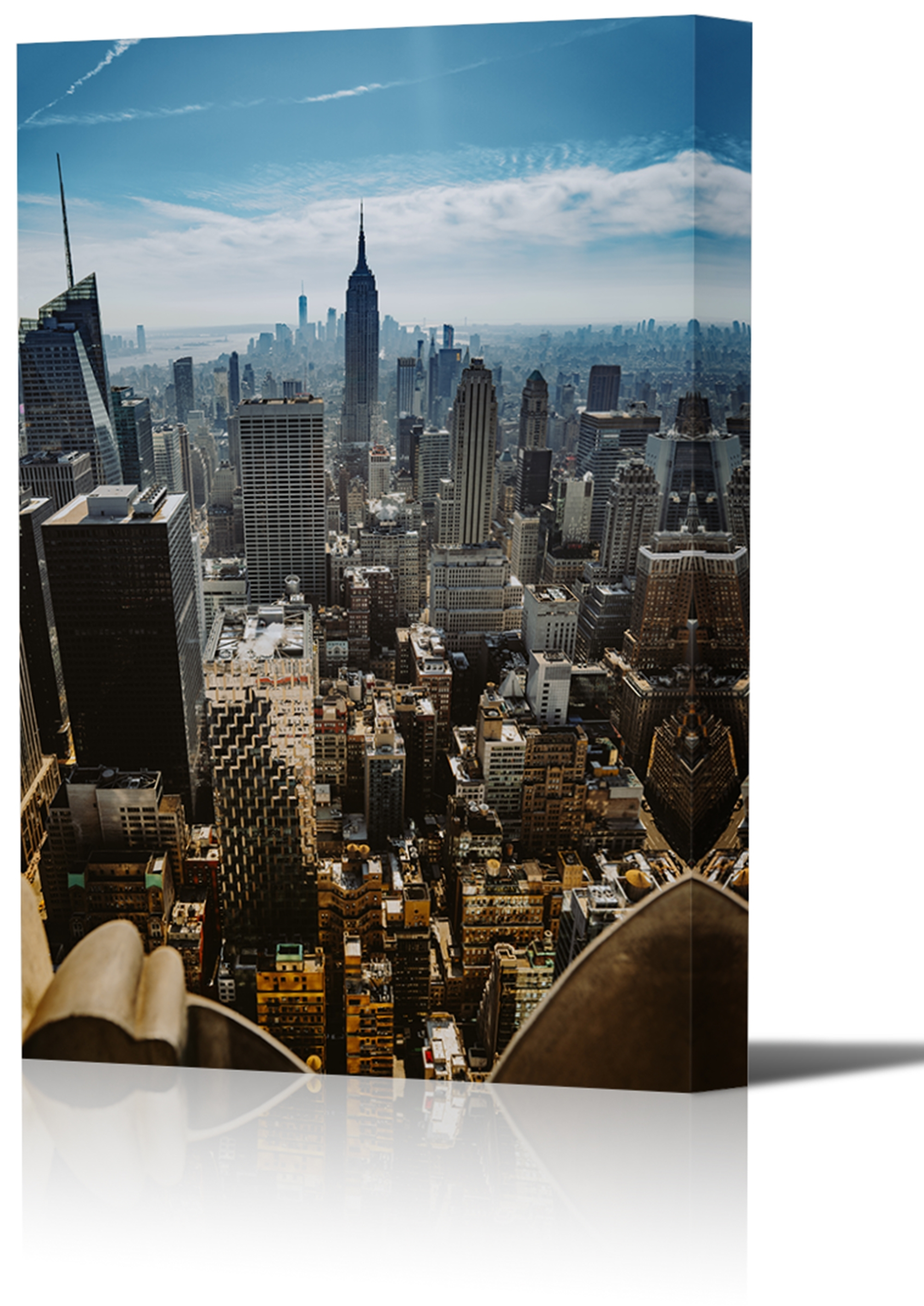 Top Of The Rock New York City Art Print Wall Decor Image Canvas Pertaining To Most Up To Date New York Wall Art (View 9 of 15)