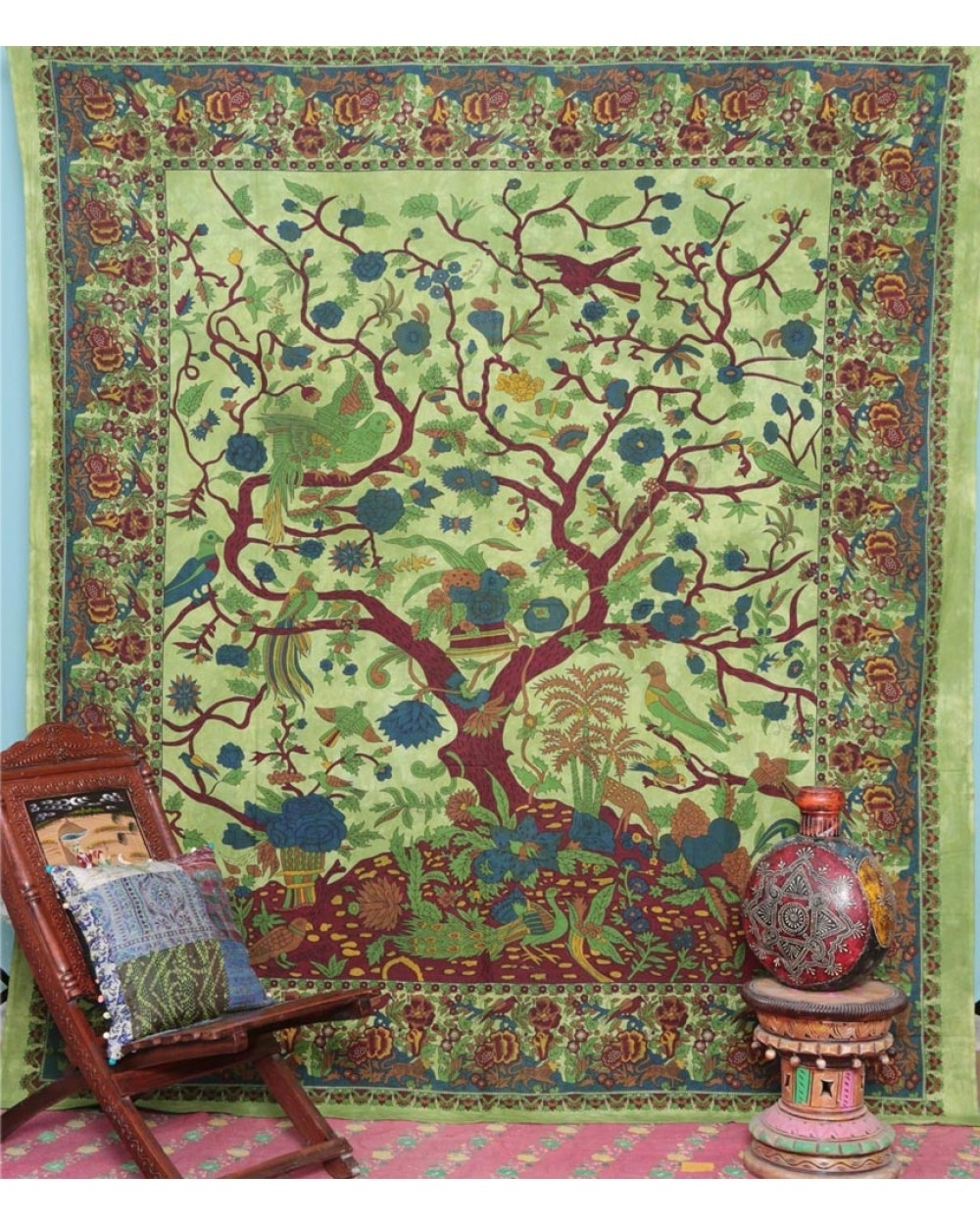 Tree Of Life Bedspread Home Decor Within Well Known Tree Of Life Wall Art (View 11 of 15)