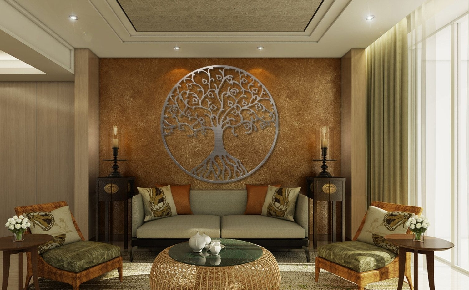 Tree Of Life Metal Wall Art, Metal Tree Wall Art, Circle Wall Art In Favorite Metal Wall Art Decors (View 13 of 15)