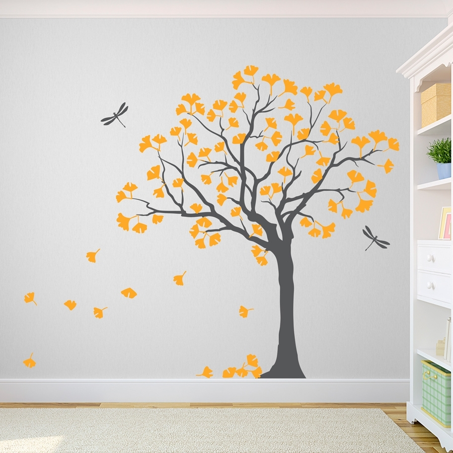 Tree Wall Art With Recent Ginkgo Tree Wall Decal (View 3 of 15)