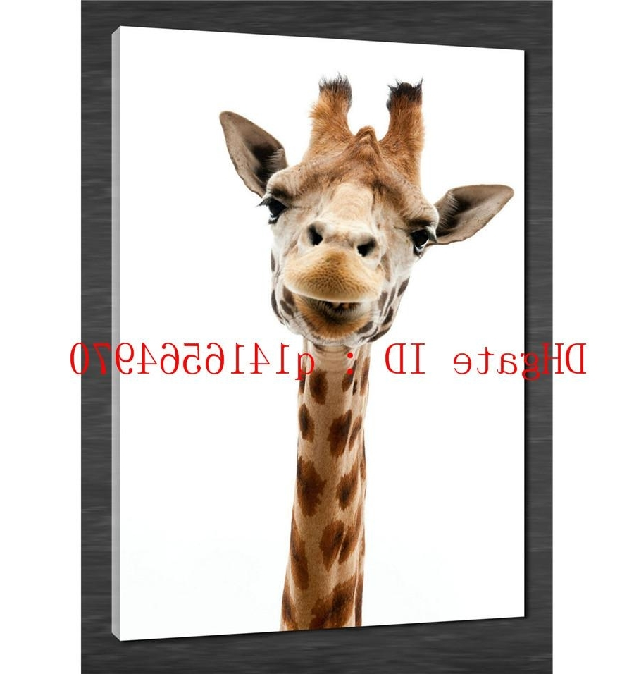 Trendy 2018 Muursticker Giraffe,canvas Prints Wall Art Oil Painting Home Intended For Giraffe Canvas Wall Art (View 12 of 15)