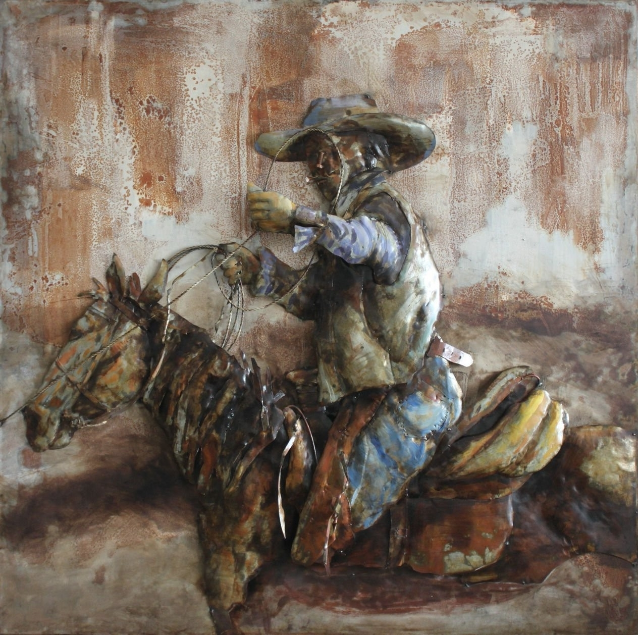 Trendy 3D Metal Wall Art Intended For Cowboy Horse Side 3D Metal Wall Art Hand Painted (View 2 of 15)