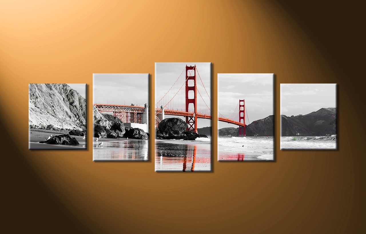 Trendy 48 5 Piece Wall Art Canvas, Aliexpresscom : Buy 5 Piece Canvas Wall Throughout 4 Piece Wall Art (View 13 of 15)