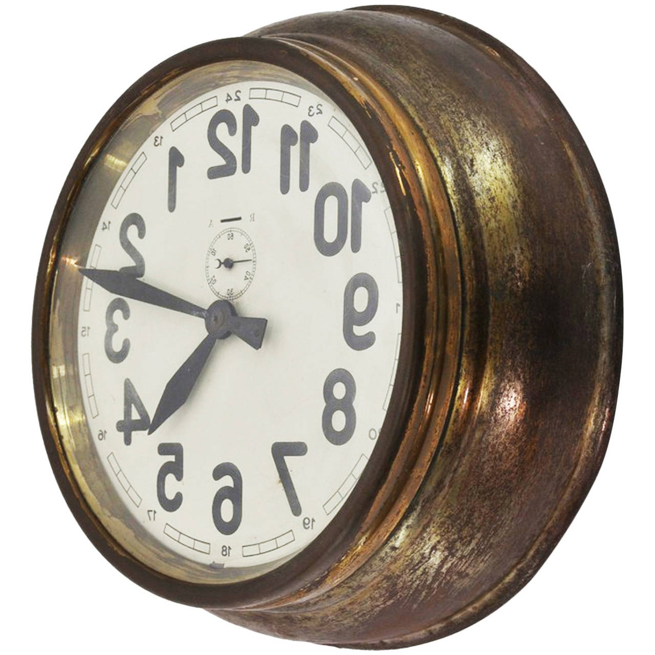 Trendy Art Deco Wall Clock With Regard To Brass Art Deco Wall Clock At 1Stdibs (View 3 of 15)