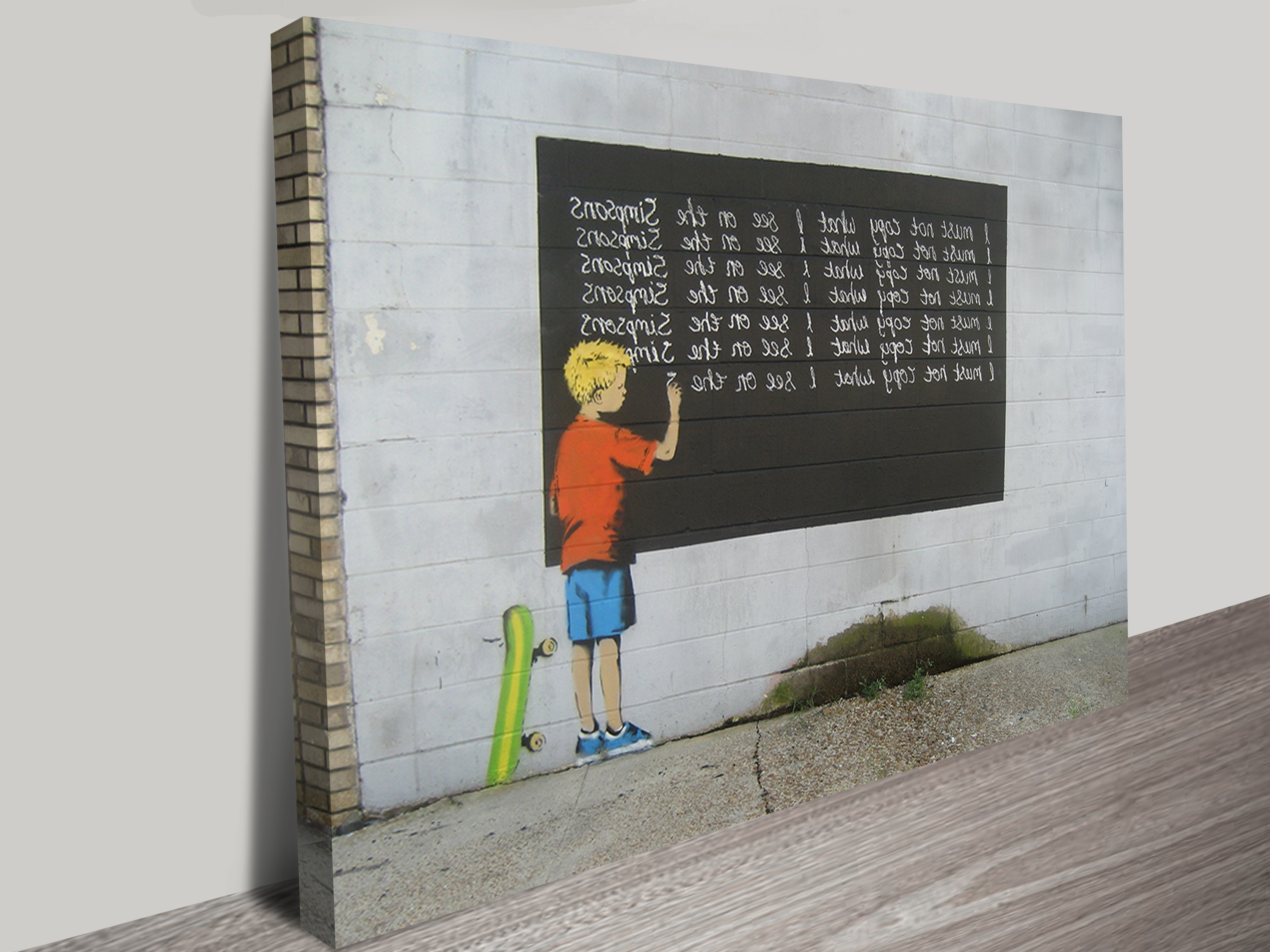 Trendy Banksy Simpsons Canvas Art Print Sydney Pertaining To Wall Art Prints (View 11 of 15)