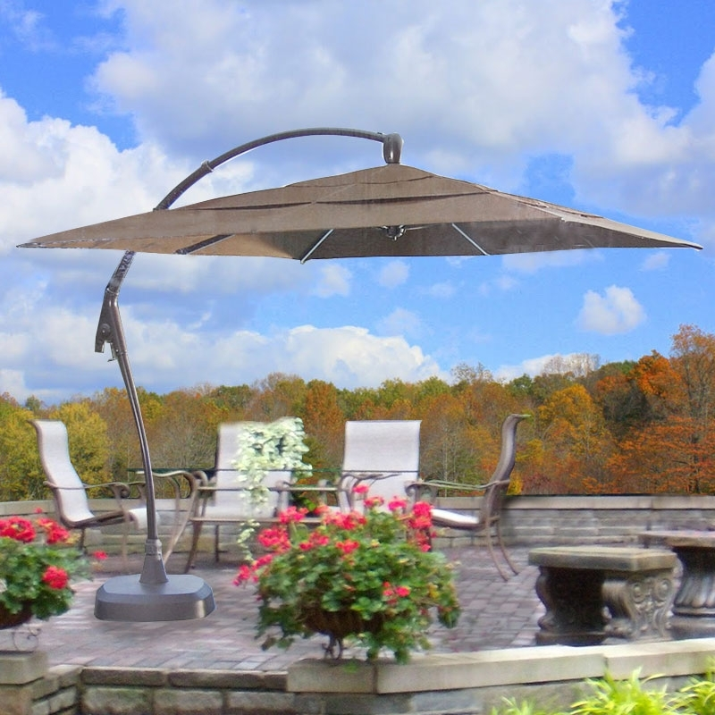 Trendy Costco Cantilever Patio Umbrellas For Costco Square Cantilever Umbrella Replacement Canopy 463095 Garden Winds (View 7 of 15)