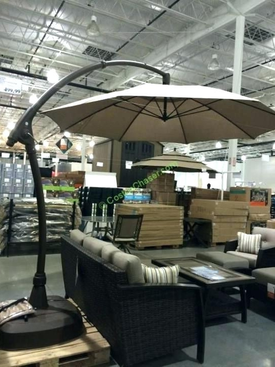 Trendy Costco Patio Umbrellas Inside Costco Patio Umbrella Good Patio Umbrellas For Tent Cantilever The (View 10 of 15)