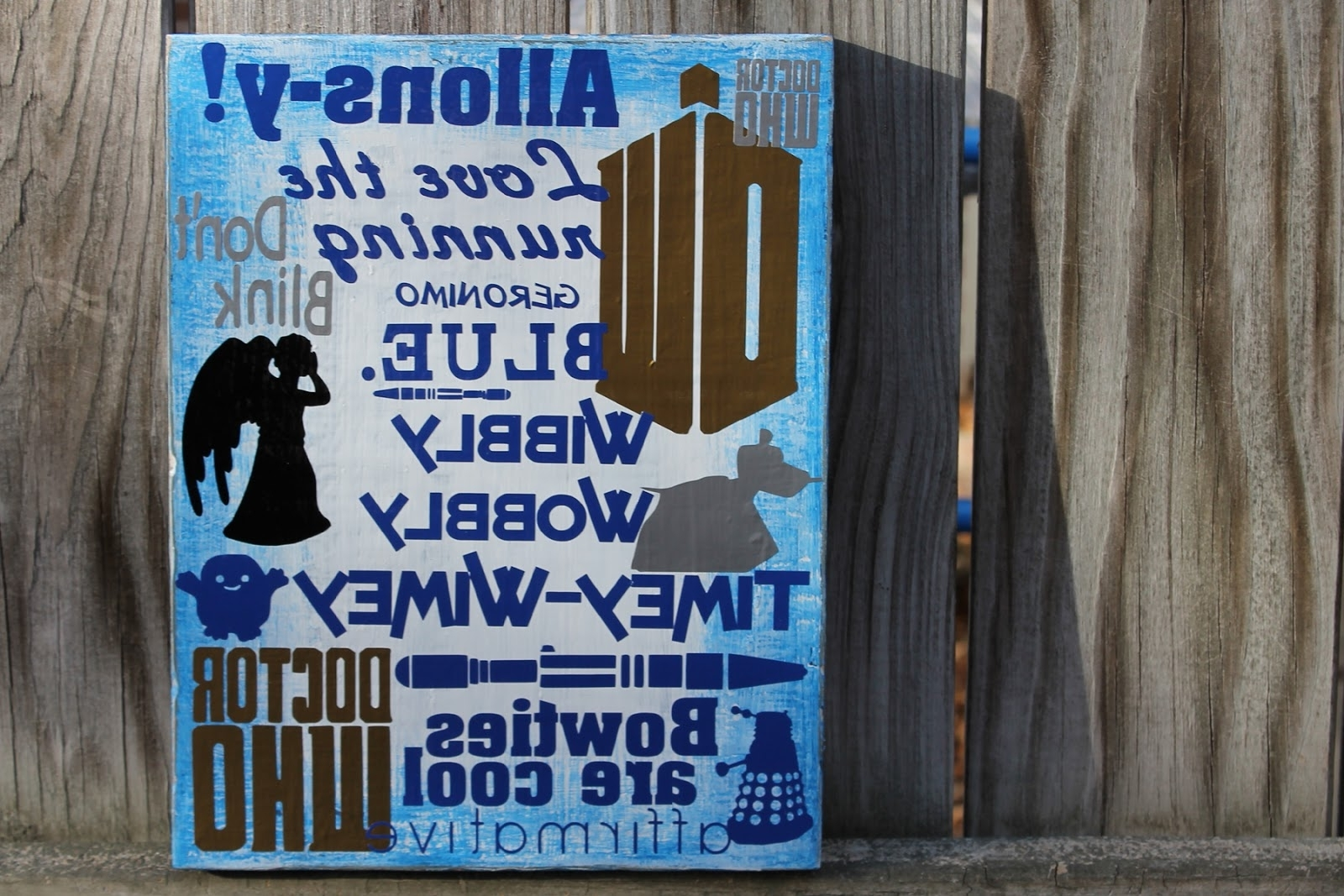 Trendy Doodlecraft: Doctor Who Wall Art Geekery! Within Doctor Who Wall Art (View 7 of 15)