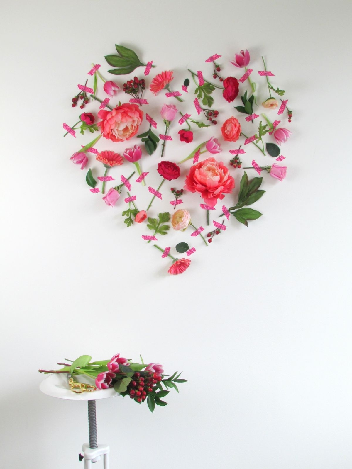 Trendy Floral Wall Art Regarding Valentines Day Flower Cool Flower Wall Art – Wall Decoration Ideas (View 10 of 15)