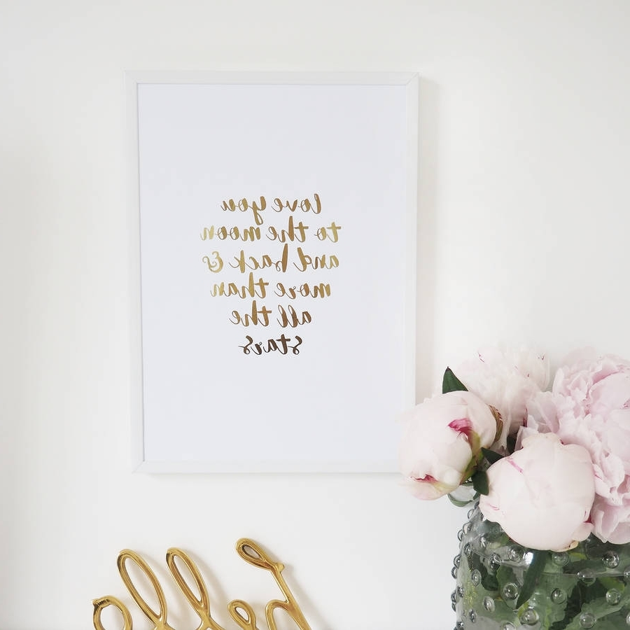 Featured Photo of I Love You To The Moon And Back Wall Art
