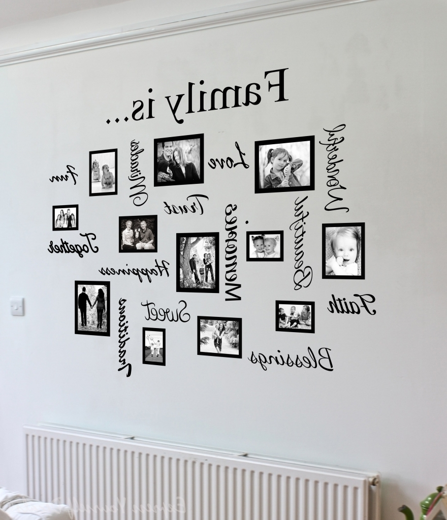 Trendy Impressive Family Name Metal Wall Art Family The Ones We Family With With Regard To Word Wall Art (View 9 of 15)