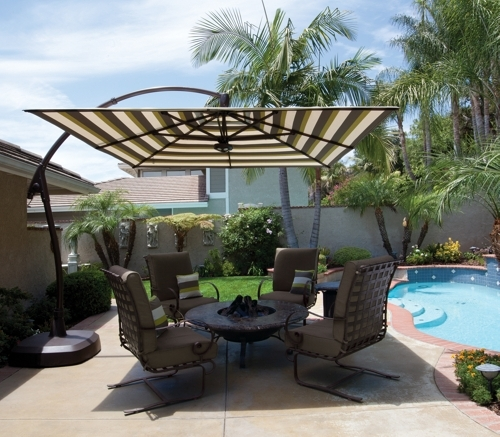 Trendy Interior : Great Luxury Outdoor Umbrellas Cozy Patio Elegant With Regard To Patio Sets With Umbrellas (View 14 of 15)