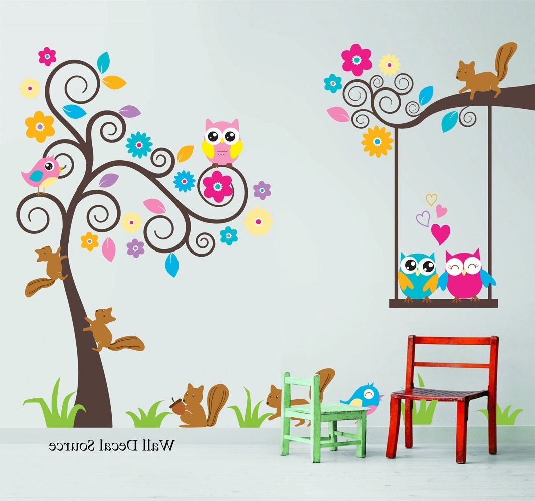 Trendy Kids Wall Art Pertaining To Kids Wall Stickers – 2 – In Decors (View 14 of 15)
