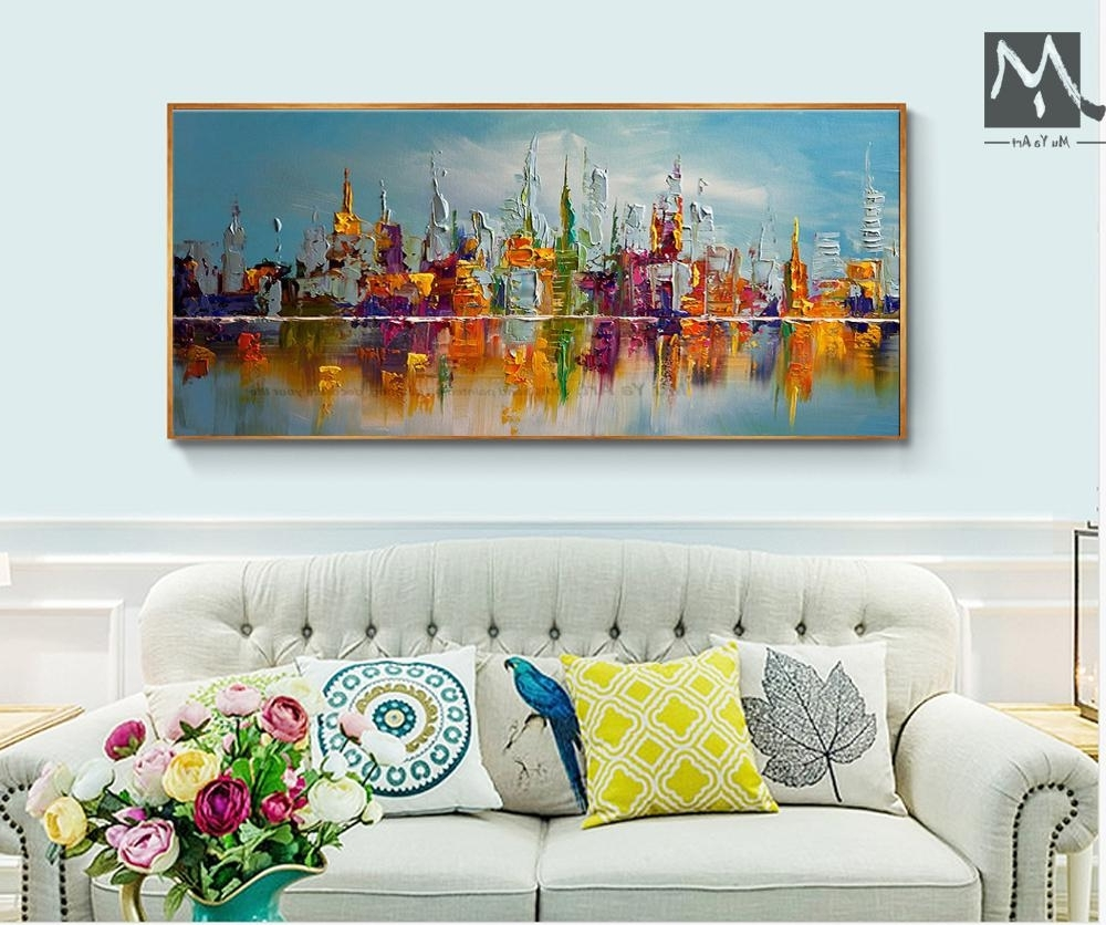 Trendy Large Canvas Painting Wall Art Intended For Best Large Canvas Wall Art Abstract Modern Decorative Pictures New (View 13 of 15)