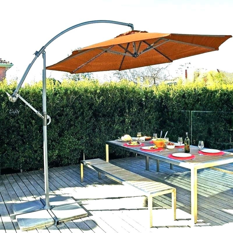 Trendy Lowes Cantilever Patio Umbrellas Inside Lowes Patio Umbrella Stand Umbrella Stands Outdoor Patio Umbrella (View 3 of 15)