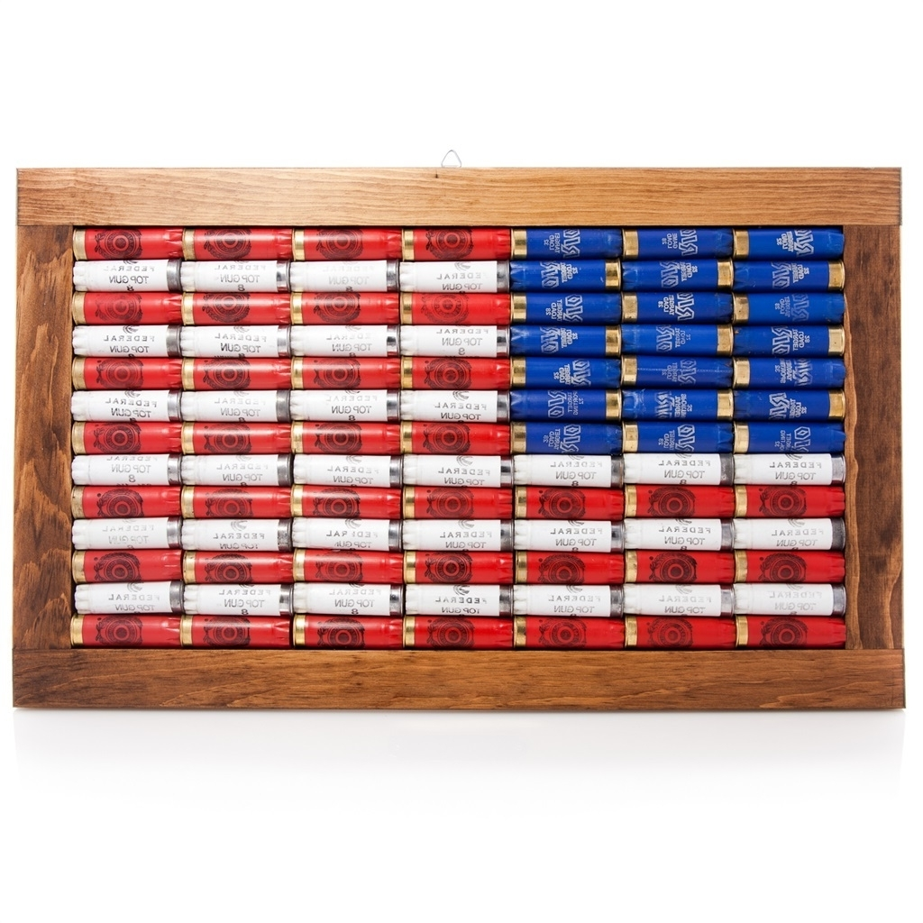 Trendy Lucky Shot 12 Gauge American Flag Wall Art (View 15 of 15)
