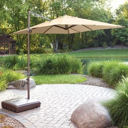 Featured Photo of Offset Patio Umbrellas With Base
