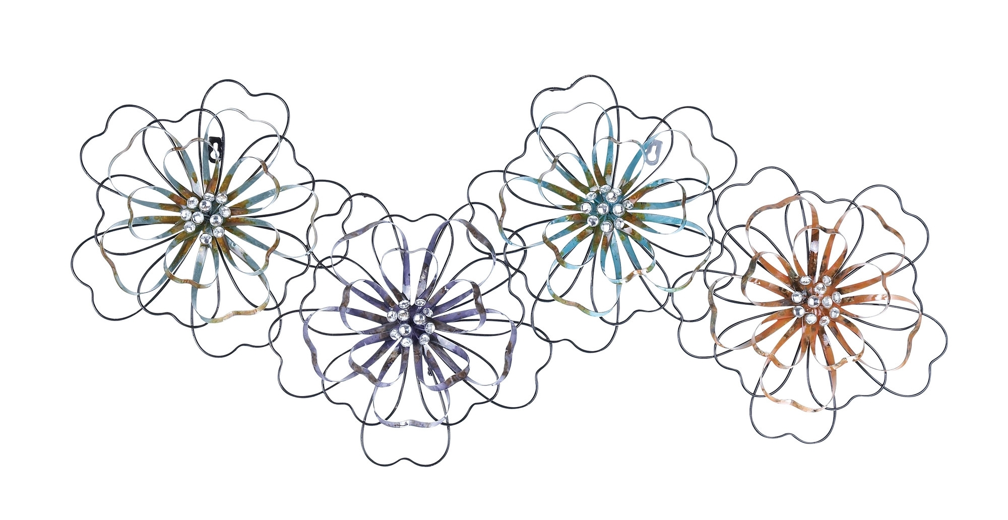 Trendy Metal Flower Wall Art With Intermingled Flowers – Floral Metal Wall Art (View 14 of 15)