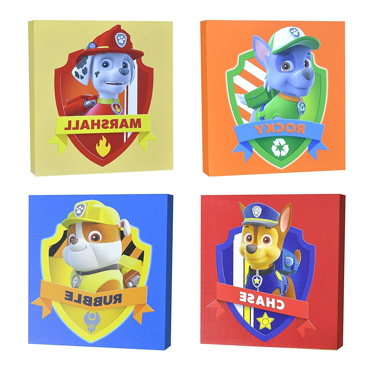"""Trendy Mickey Mouse Canvas Wall Art Pertaining To Amazon: Nickelodeon Paw Patrol Square Canvas Wall Art 11"""" Toy (View 12 of 15)"""