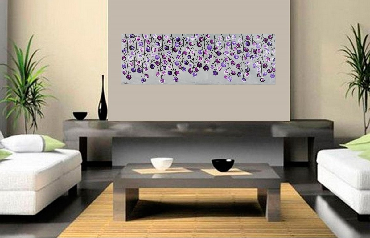 Trendy Modern Canvas Wall Art Lavender : Andrews Living Arts – Modern For Purple And Grey Wall Art (View 4 of 15)