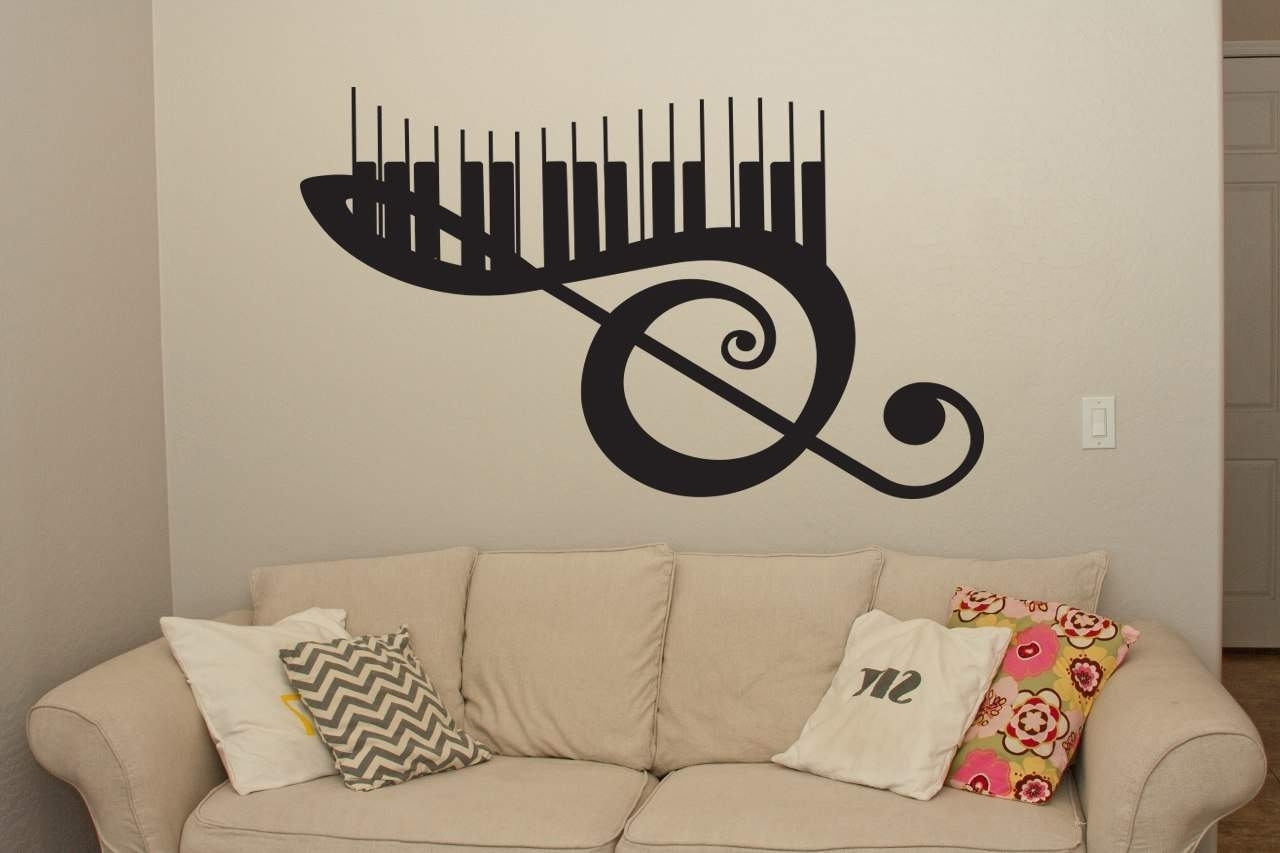 Trendy Music Wall Art Pertaining To Musical Keyboard Wall Art Decal (View 13 of 15)