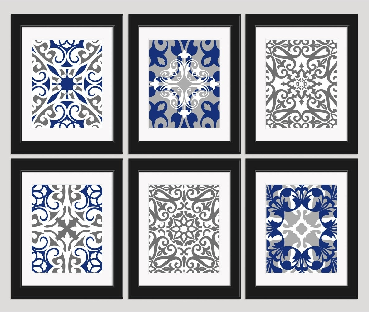 Trendy Navy Blue Wall Art For Navy Wall Decor Cool Navy Blue Wall Decor – Wall Decoration Ideas (View 12 of 15)