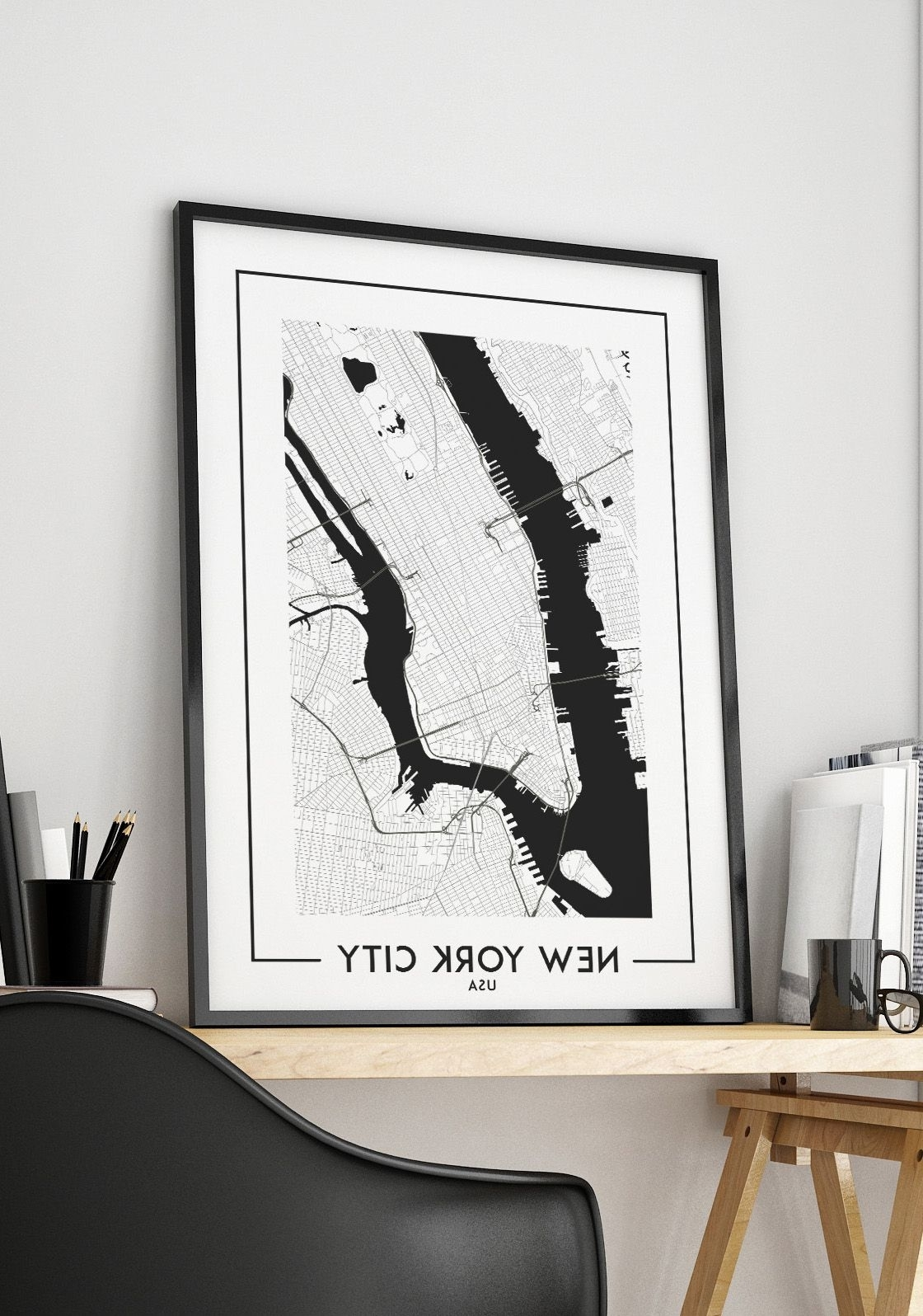 Trendy New York City Map Digital Download, Poster, Map Of New York, New With New York City Map Wall Art (View 14 of 15)