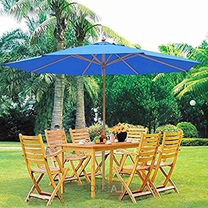 Trendy Oversized Patio Umbrellas Regarding Amazon : Oversized 13 Feet Market Patio Umbrella Outdoor (View 15 of 15)