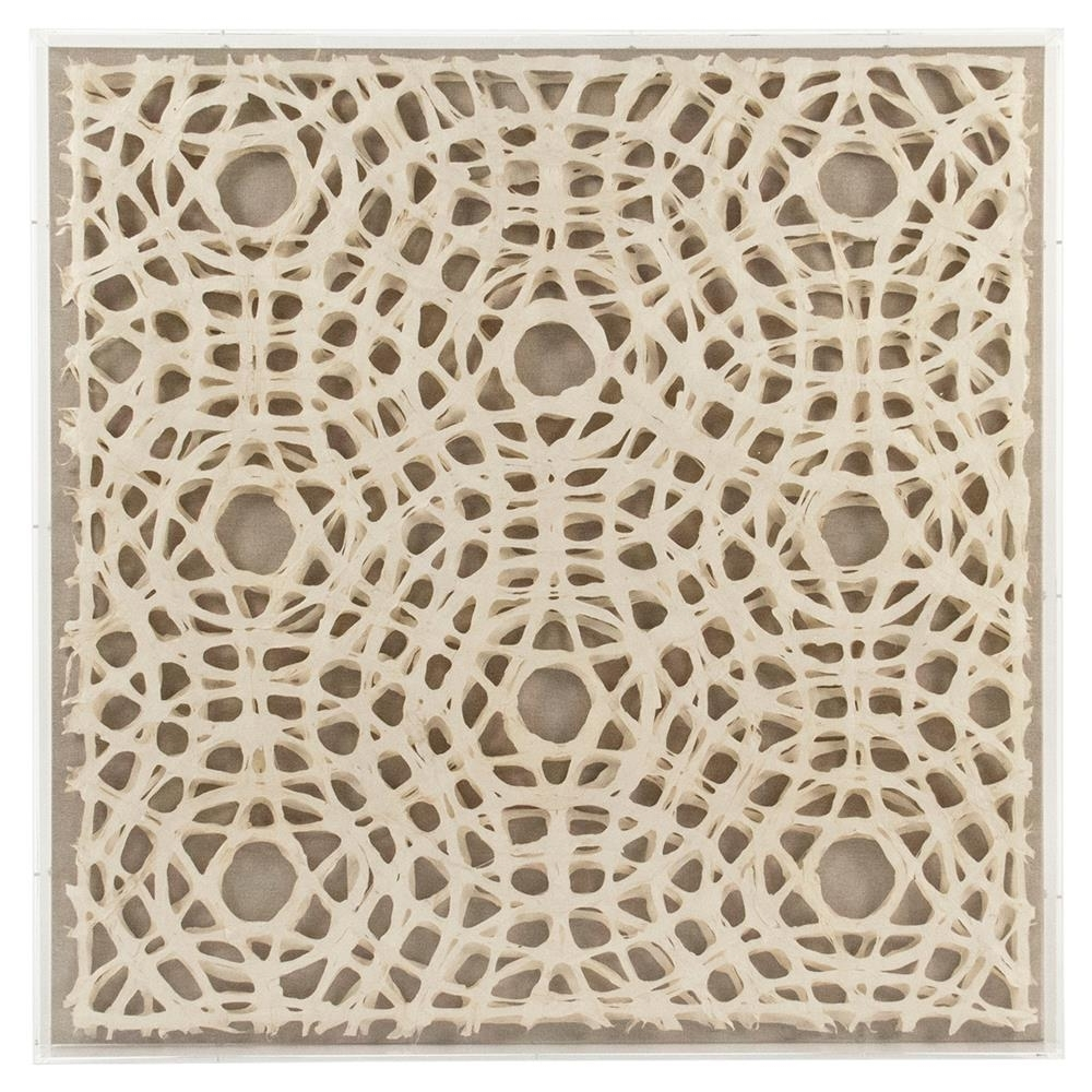 Trendy Paper Wall Art Regarding Avi Modern Classic Abstract Geometric Acrylic Framed Paper Wall Art (View 14 of 15)