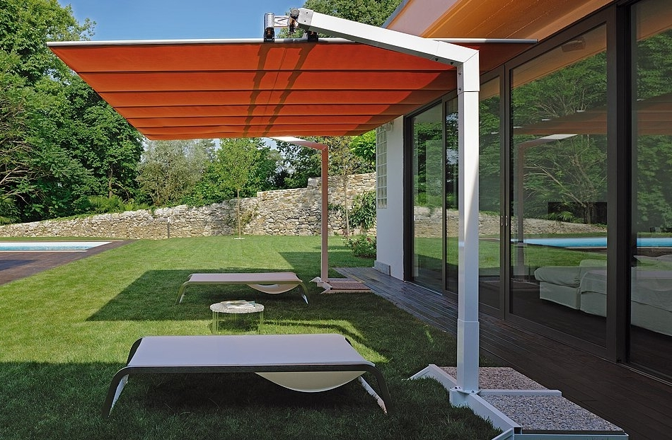 Trendy Rectangle Patio Umbrellas For Awesome Rectangle Patio Umbrella Rectangular Umbrellas Patioliving (View 4 of 15)