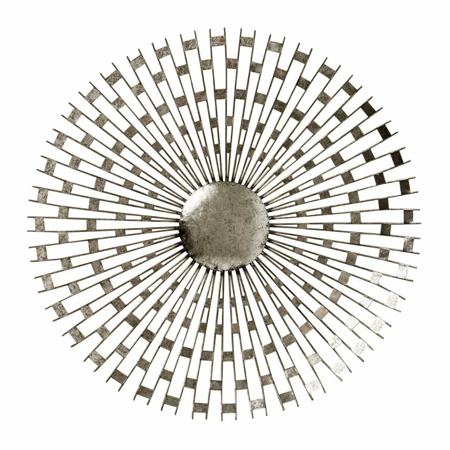 Trendy Round Wall Art For Tribeca Silver Metal Round Wall Art (View 11 of 15)
