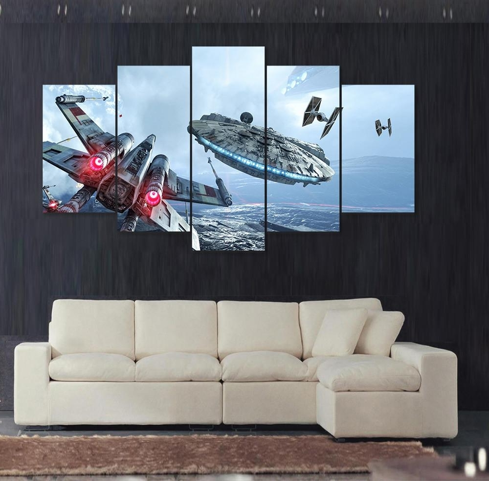 Trendy Star Wars Wall Art For Star Wars Wall Art Color : Andrews Living Arts – Fantastic Room With (View 11 of 15)