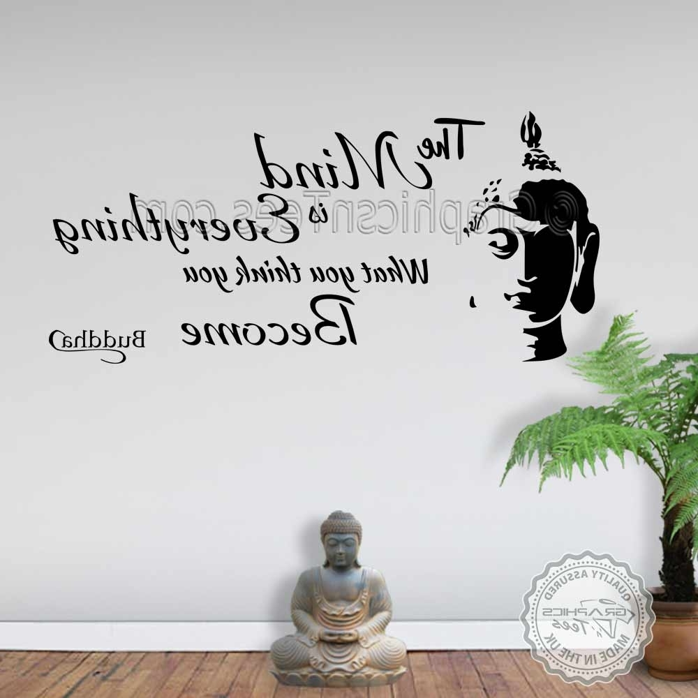Trendy The Mind Is Everything Buddha Inspirational Wall Sticker Quote Decor Intended For Inspirational Wall Art (View 7 of 15)