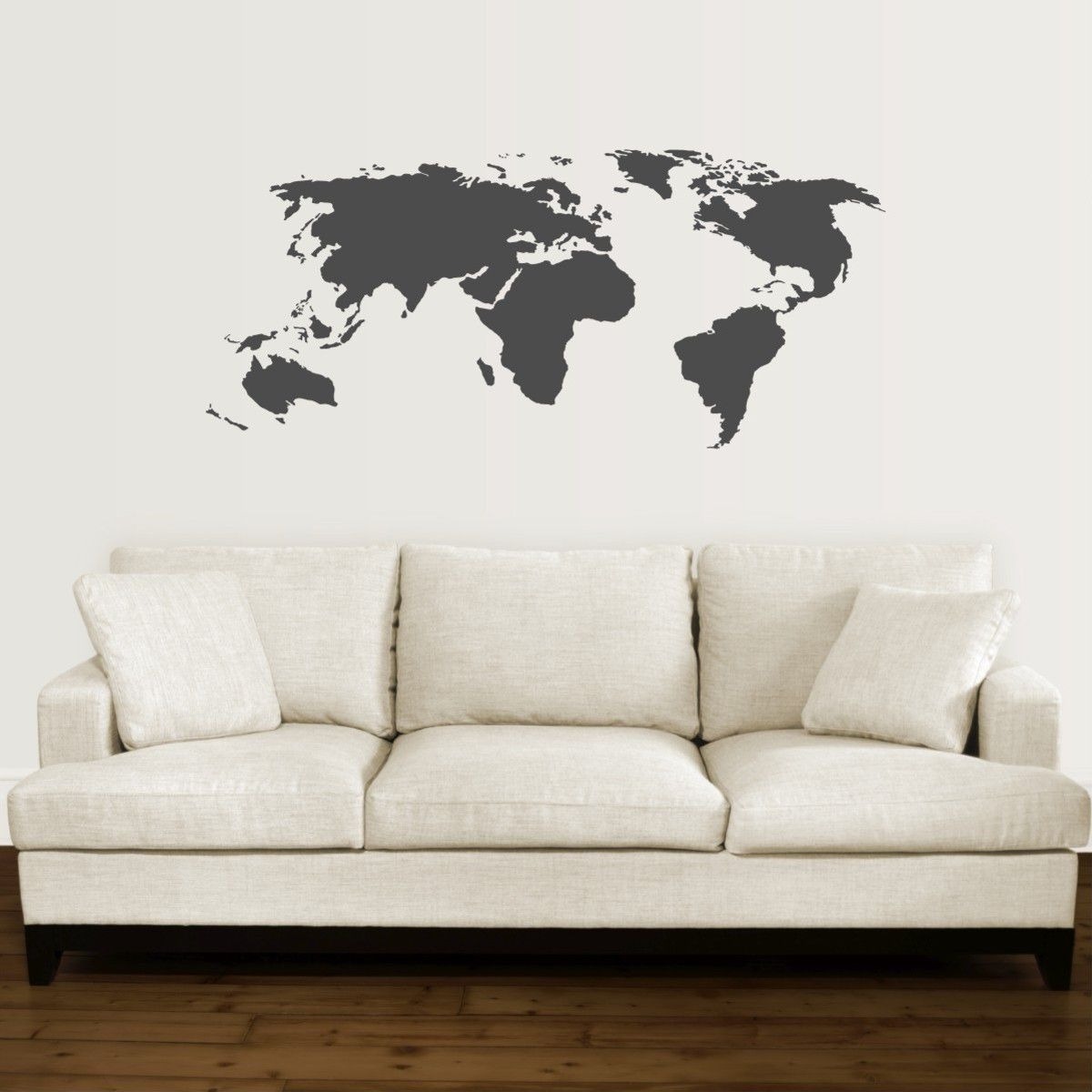 Trendy Vinyl Wall Art World Map With Bedight Wall Art Bedight World Map Vinyl Wall Art (View 15 of 15)