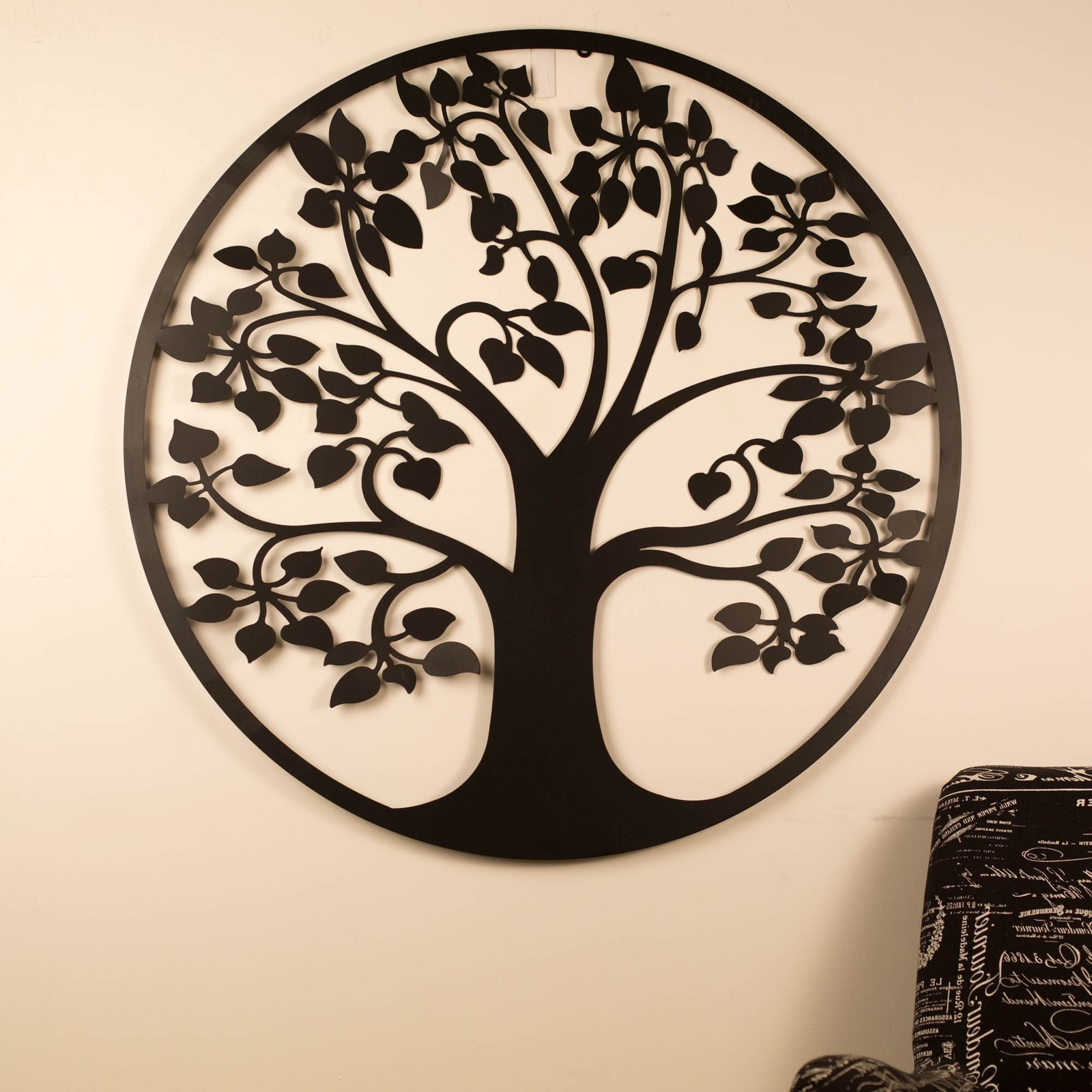 Trendy Wall Art 99Cm Tree Of Life Black Metal Unique Steel Stylish Designer Intended For Tree Of Life Wall Art (View 7 of 15)