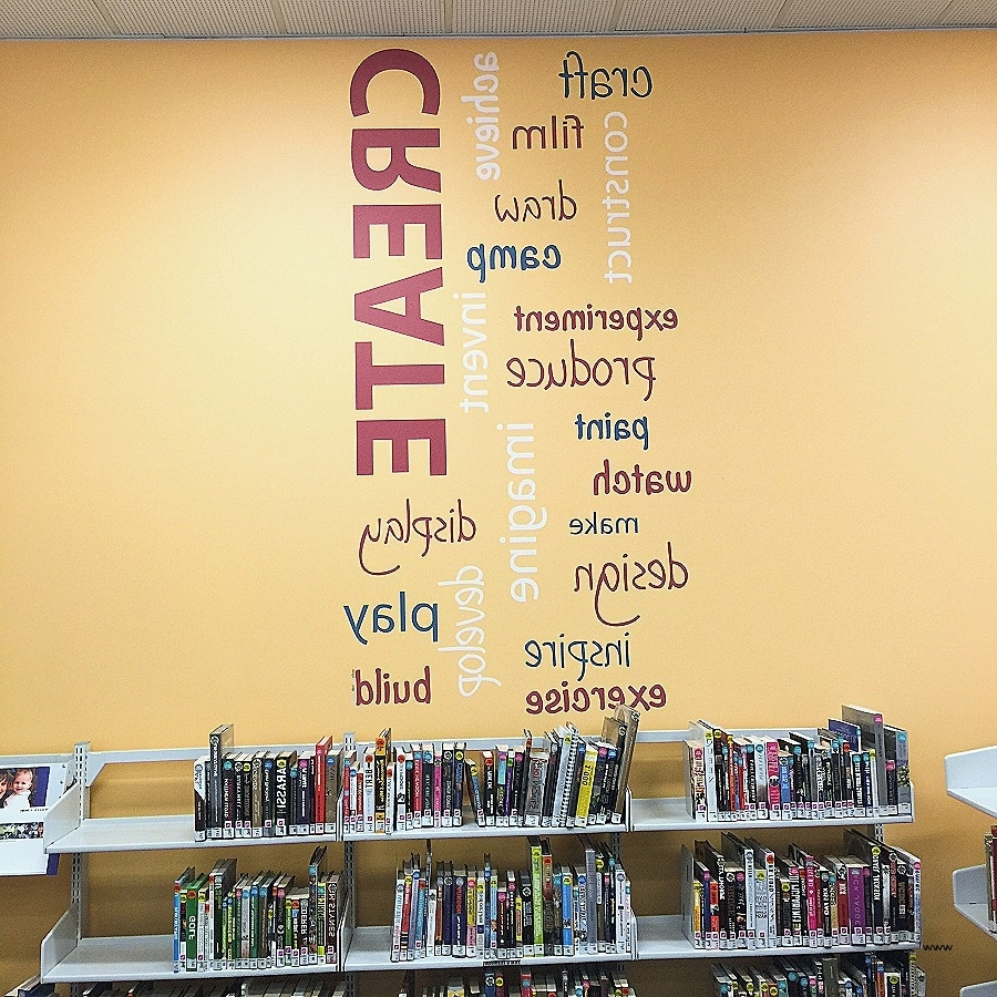 Trendy Wall Art: Elegant Word Art For Wal ~ Robotsgonebad Regarding Word Art For Walls (View 14 of 15)