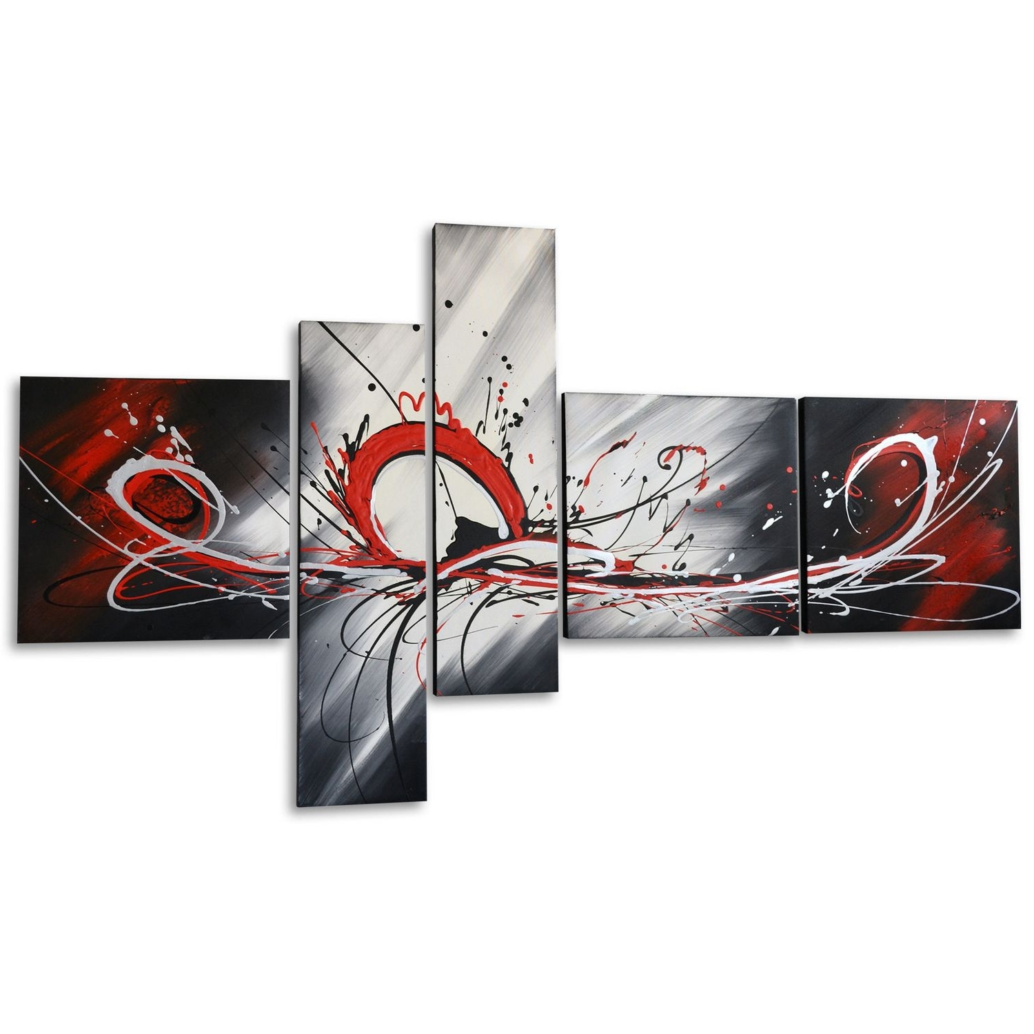 Trendy Walmart Wall Art Inside Design Art – Red Splash Hand Painted Textured Oil Painting On (View 4 of 15)