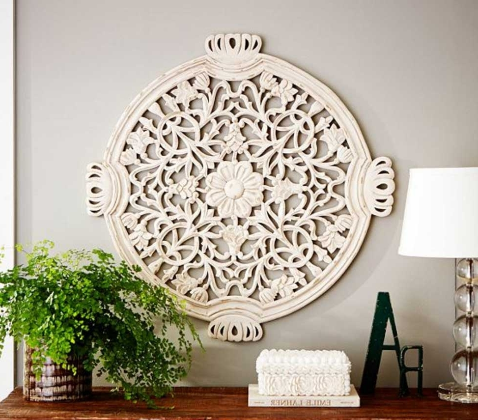 Trendy Wood Medallion Wall Art Floral Carved Home Interior Exterior – Super For Medallion Wall Art (View 13 of 15)