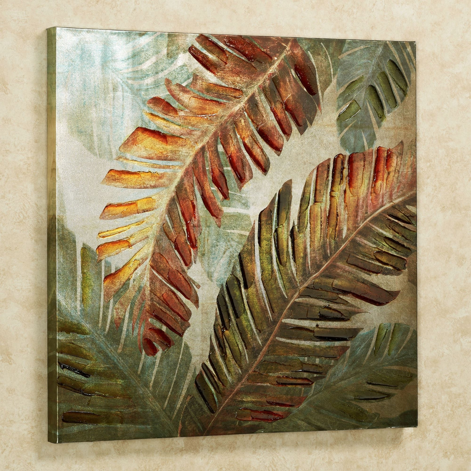 Tropical Wall Art With Preferred Dancing Palms Tropical Canvas Wall Art (View 2 of 15)