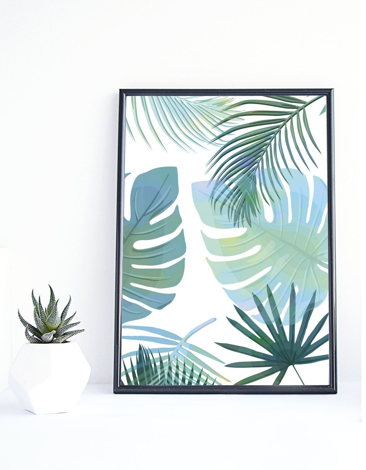Tropical Wall Art Within Most Recently Released Banana Leaf Print, Tropical Art,instant Download, Palm Print (View 9 of 15)