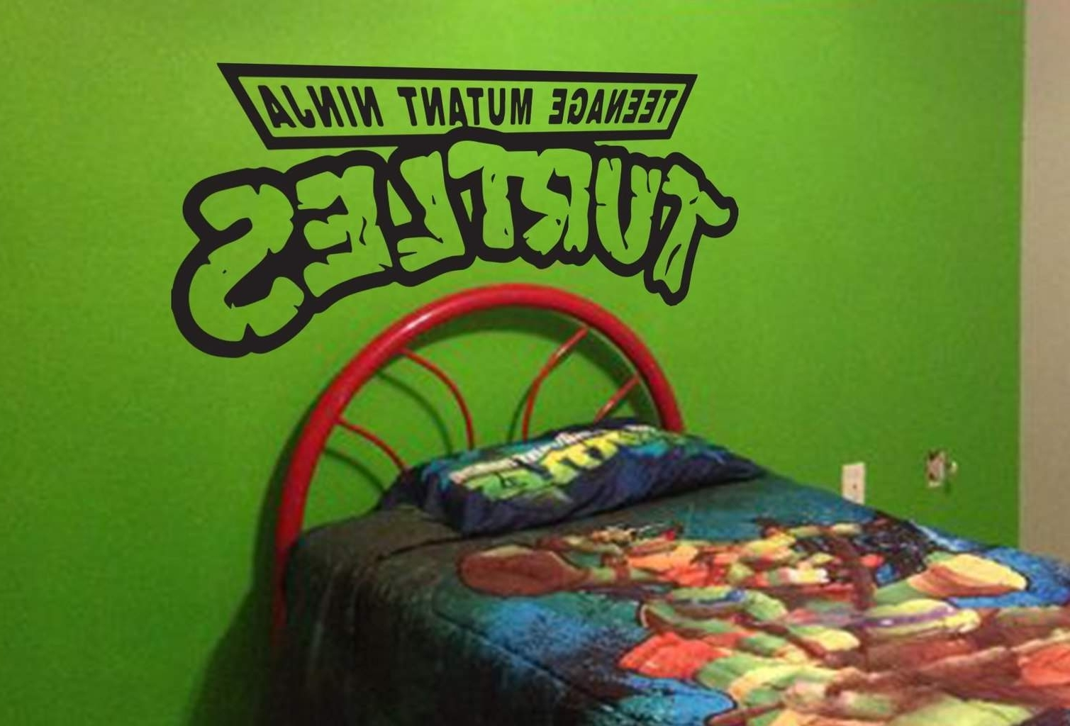 Turtles Are Here To Protect, Ninjaturtles Wall Decal With Regard To Recent Ninja Turtle Wall Art (View 7 of 15)