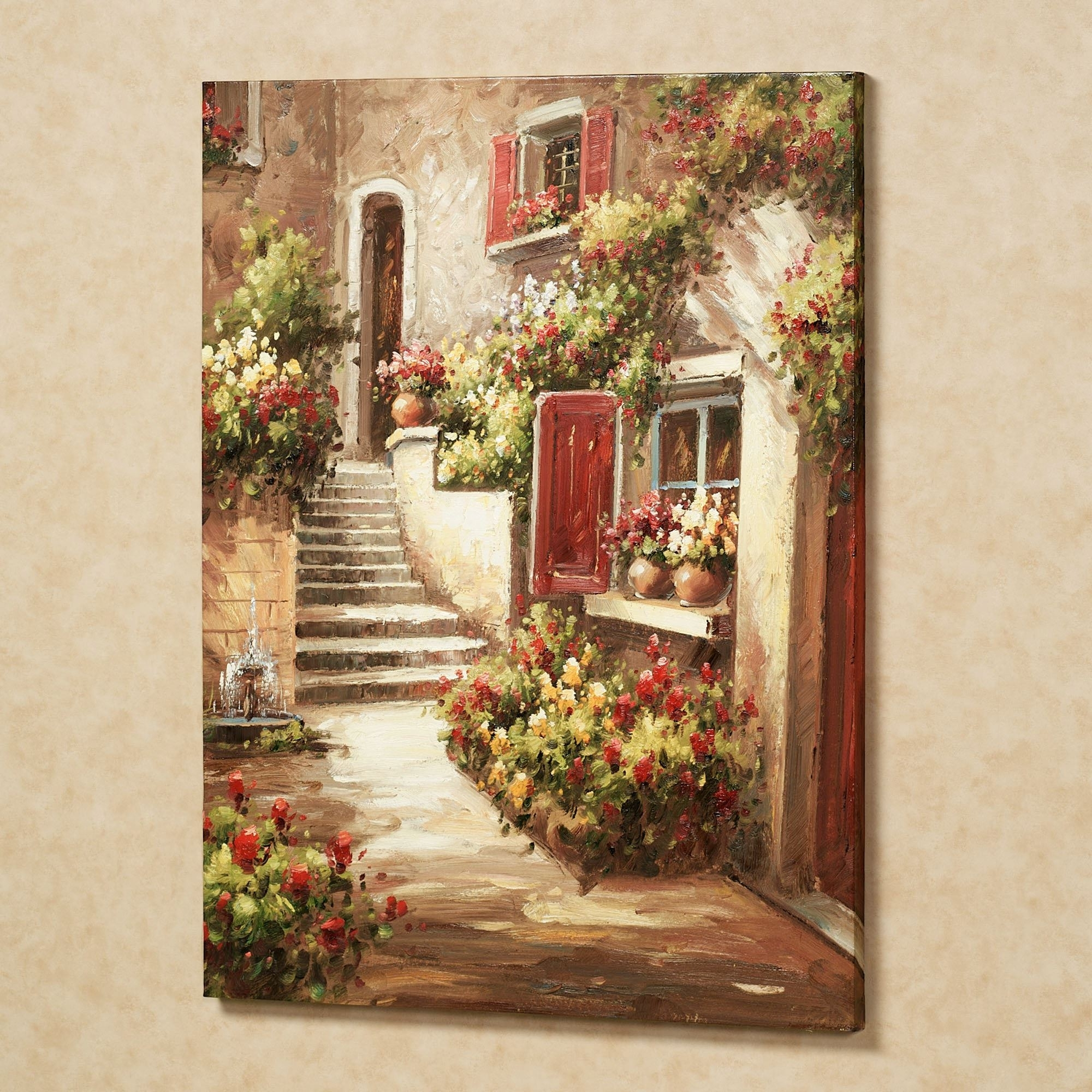 Tuscan Flowers Canvas Wall Art With Fashionable Floral Canvas Wall Art (View 9 of 15)