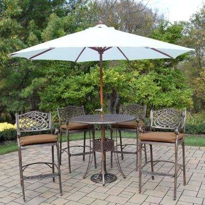 Umbrella – Bar Height Dining Sets – Outdoor Bar Furniture – The Home In Popular Patio Umbrellas For Bar Height Tables (View 13 of 15)