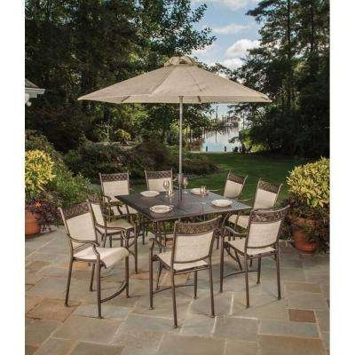Umbrella – Bar Height Dining Sets – Outdoor Bar Furniture – The Home With Well Known Patio Umbrellas For Bar Height Tables (View 3 of 15)