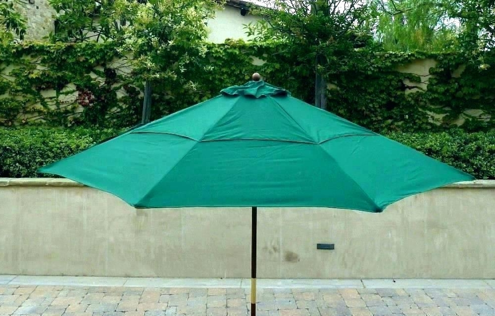 Umbrella Canopy Replacement 8 Ribs Double Vented Replacement Within Latest Vented Patio Umbrellas (View 9 of 15)
